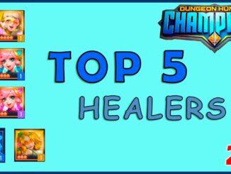 top 5 healers in dangeon hunter champions