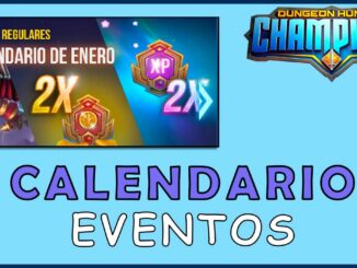 calendario eventos dungeon hunter champions