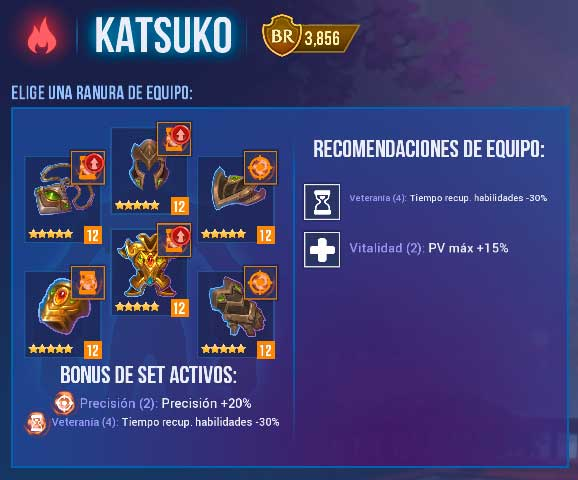 katsuko equipo chica magica dungeon hunter champions