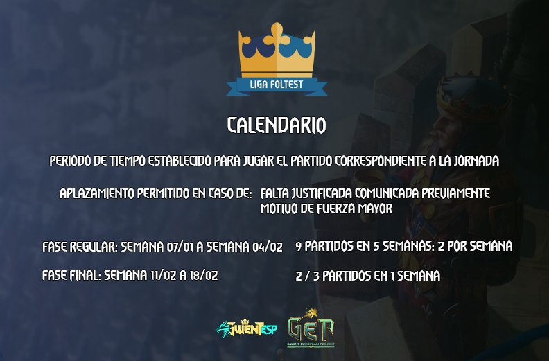 calendario liga foltest enero 2019