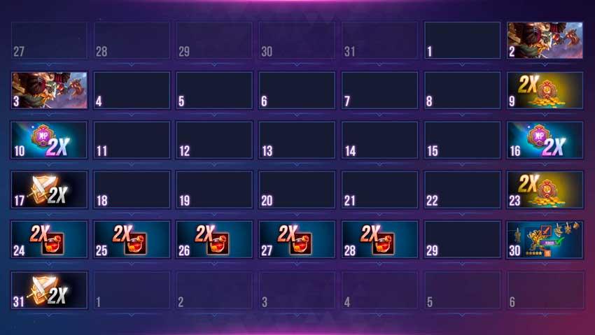 Calendario dungeon hunter champions marzo