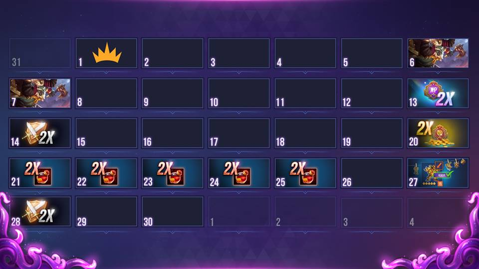 Calendario dungeon hunter champions abril