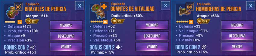 equipo pirata oscuridad dungeon hunter champions