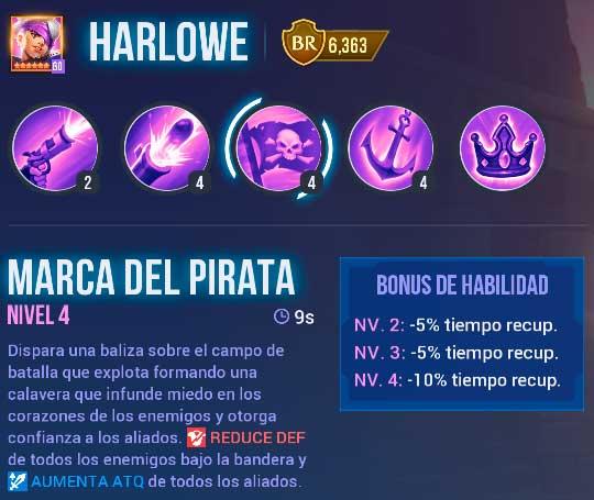 Harlowe Pirata de Oscuridad