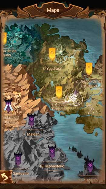 afk arena mapa campaña