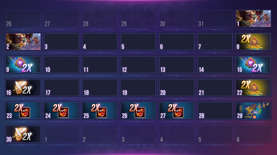 Calendario dungeon hunter champions junio