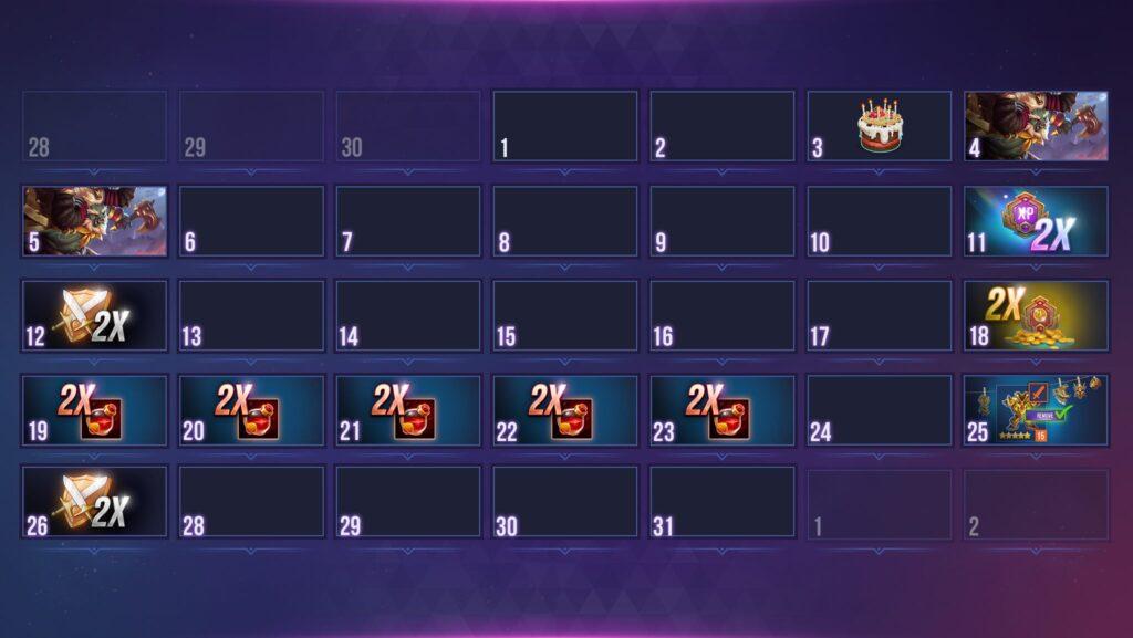 Calendario dungeon hunter champions mayo