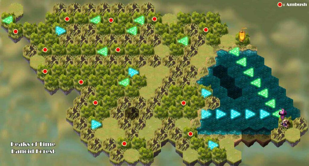 mapa el bosque rancio trampas afk arena